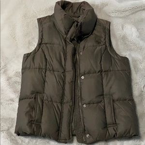 Army green Abercrombie puffer vest